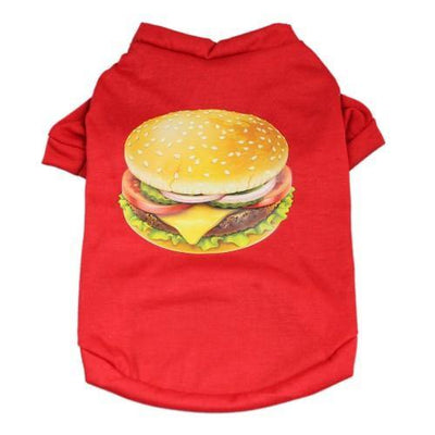 Cheeseburger Shirt - Posh Pet Glamour Boutique
