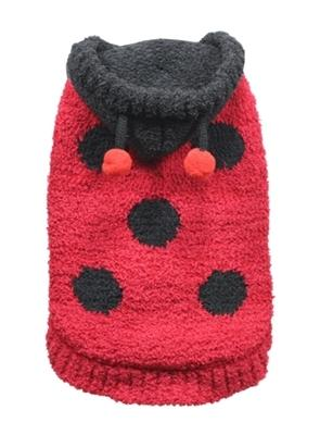 Chenille Lady Bug Sweater - Posh Pet Glamour Boutique