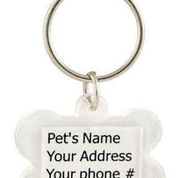 Clear Plastic Bone-Shaped I.D. Tag - Posh Pet Glamour Boutique