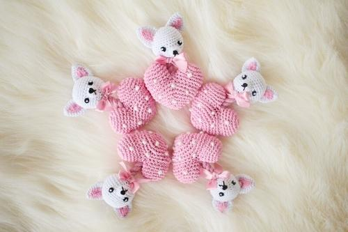 Crochet Chihuahua Heart Toy - Posh Pet Glamour Boutique