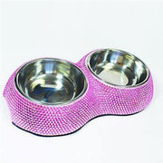 Crystal Dining Bowl- Pink - Posh Pet Glamour Boutique