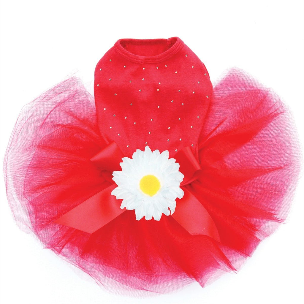 Custom Red Tutu Cute Dress - Posh Pet Glamour Boutique