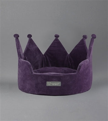 Crown Bed Micro Plush Purple