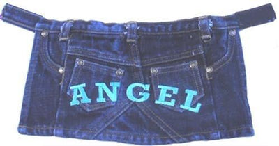 Denim Angel Skirt - Posh Pet Glamour Boutique