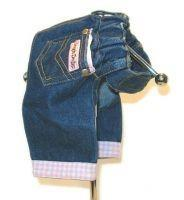 Designer Denim Pink Gingham Jeans - Posh Pet Glamour Boutique