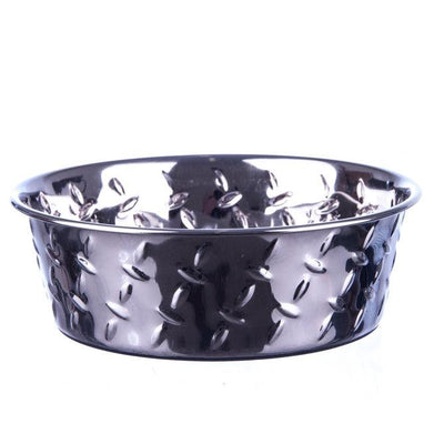 Diamond Plate Bowls - Posh Pet Glamour Boutique