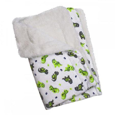 Dinosaur Flannel/Ultra-Plush Blanket - Posh Pet Glamour Boutique