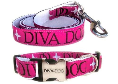 Diva Monogram Collar with optional leash - Posh Pet Glamour Boutique