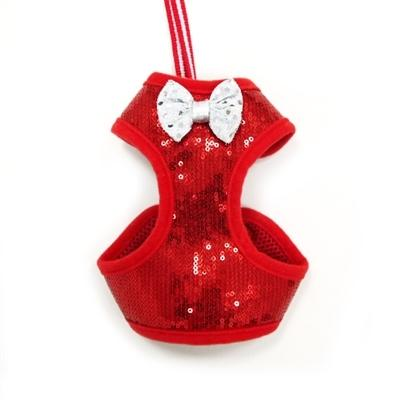 Easy Go Sequins Red Harness - Posh Pet Glamour Boutique