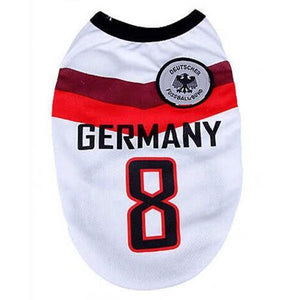 Germany World Cup Soccer Tank - Posh Pet Glamour Boutique