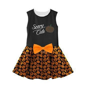 Halloween Girls Harness Dress Scary Cute - Posh Pet Glamour Boutique