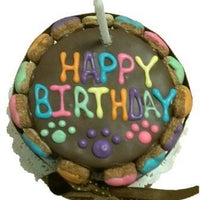 Happy Birthday Colorful Bone Cake Carob - Posh Pet Glamour Boutique