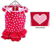 Hearts Red Dress - Posh Pet Glamour Boutique