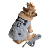 Herringbone Coat Harness with Matching Leash - Posh Pet Glamour Boutique