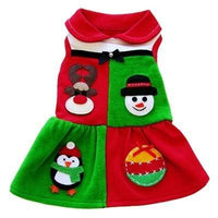 Holiday Patchwork Dress - Posh Pet Glamour Boutique