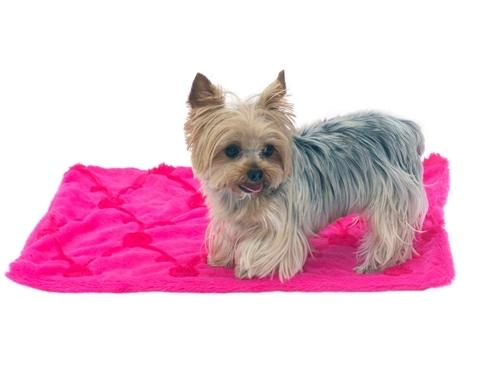 Hot Pink Roses Minkie Binkie Blanket - Posh Pet Glamour Boutique