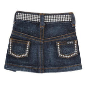 Jane Denim Skirt with Rhinestones - Posh Pet Glamour Boutique