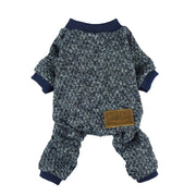 Knitted Thermal Pajamas - Posh Pet Glamour Boutique