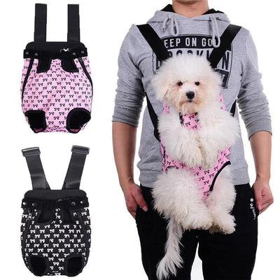 Legs Out Pet Carrier- Bow Design - Posh Pet Glamour Boutique