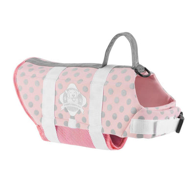 Life Jacket- Pink/Silver - Posh Pet Glamour Boutique