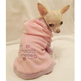 Little Princess in Training Velour Hoodie - Posh Pet Glamour Boutique