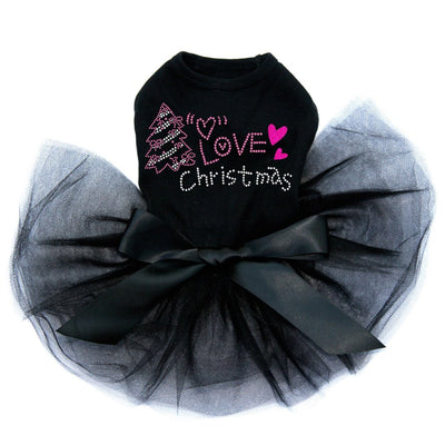 Love Pink Christmas Tutu - Posh Pet Glamour Boutique