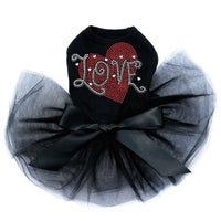 Love Red Heart Tutu - Posh Pet Glamour Boutique