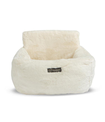 Luxury Car Seat Bed - Ivory - Posh Pet Glamour Boutique