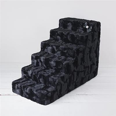 Luxury Pet Stairs-Black Diamond - Posh Pet Glamour Boutique