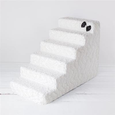 Luxury Pet Stairs-Classy Ivory - Posh Pet Glamour Boutique