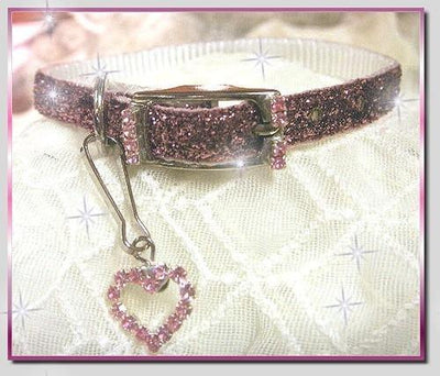 Mauve Pink Sparkler Collar - Posh Pet Glamour Boutique