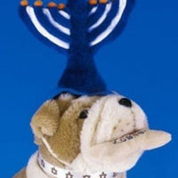 Menorah Elastic Band Hat - Posh Pet Glamour Boutique