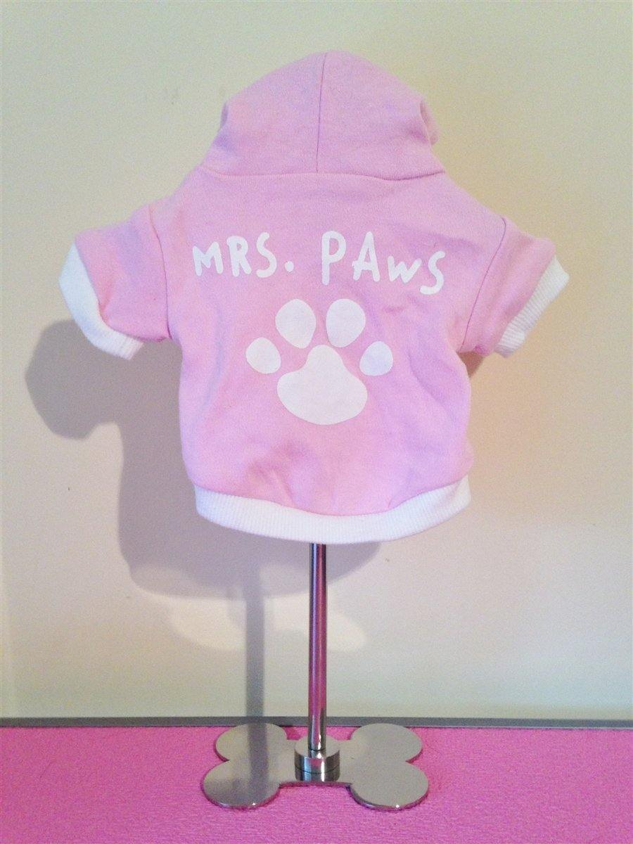 Mrs Paws Hoodie - Posh Pet Glamour Boutique