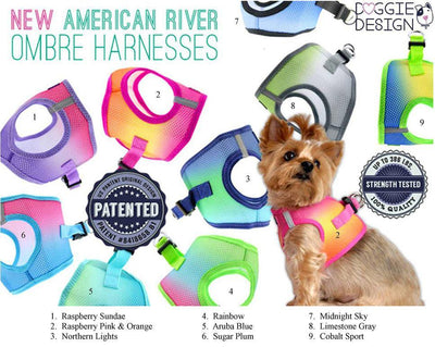 Ombre American River Choke Free Harness - Posh Pet Glamour Boutique