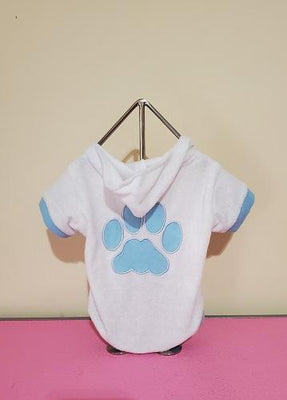 Paw Hoodie Bathrobe - Posh Pet Glamour Boutique