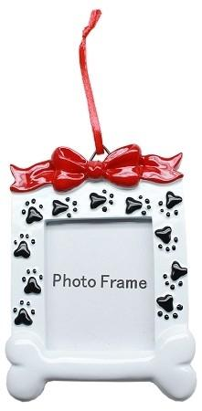 Paw Print Picture Frame Christmas Ornament - Posh Pet Glamour Boutique