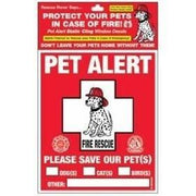Pet Alert Fire Rescue Static Cling Window Decals - Posh Pet Glamour Boutique