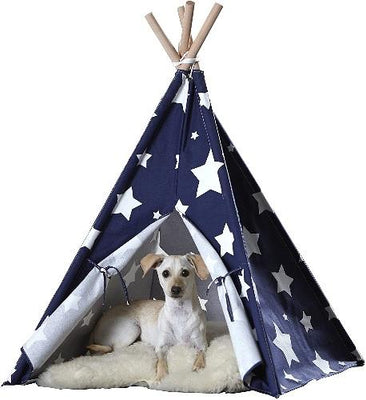 Pet Teepee- Stars - Posh Pet Glamour Boutique