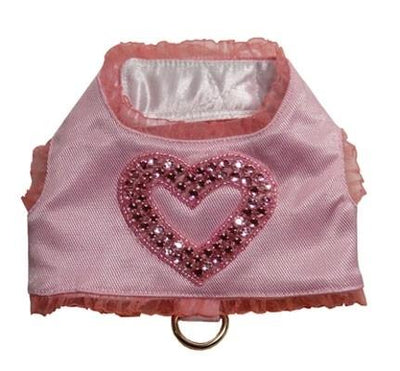 Pink Diamond Heart Harness Vest - Posh Pet Glamour Boutique
