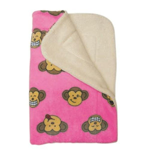 Pink Silly Monkey Ultra Plush Blanket - Posh Pet Glamour Boutique