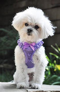 Polka Dot Ruffle American River Choke Free Harness - Posh Pet Glamour Boutique