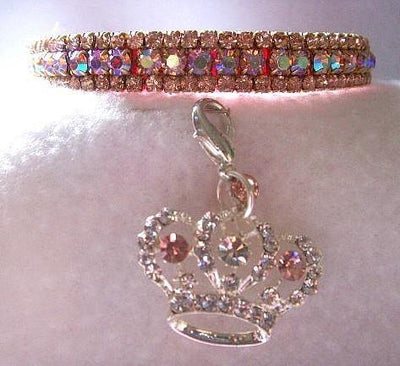 Prissy Pink Aurora Cat Collar - Posh Pet Glamour Boutique