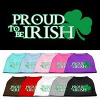 Proud To Be Irish Screen Print Shirt - Posh Pet Glamour Boutique