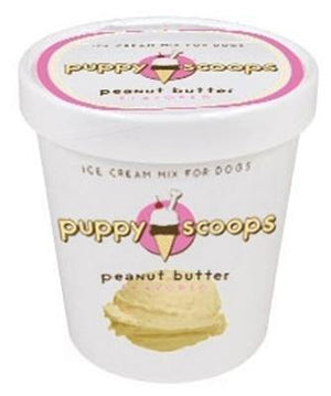 Puppy Scoops Ice Cream Mix Peanut Butter - Posh Pet Glamour Boutique