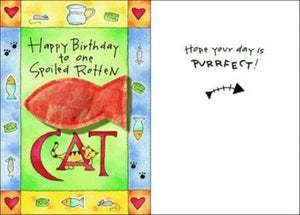 Purrfect Greetings Happy Birthday Card - Posh Pet Glamour Boutique
