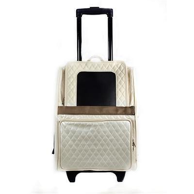Quilted Luxe Rio Bag On Wheels - Posh Pet Glamour Boutique