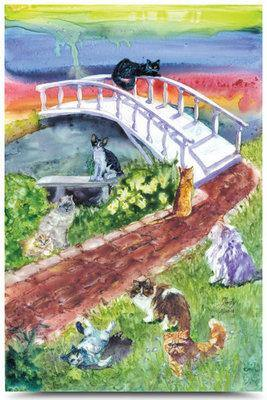 Rainbow Bridge Pet Sympathy Card - Cat - Posh Pet Glamour Boutique