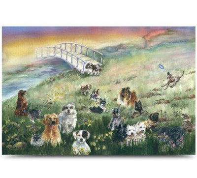 Rainbow Bridge Pet Sympathy Card - Dog - Posh Pet Glamour Boutique