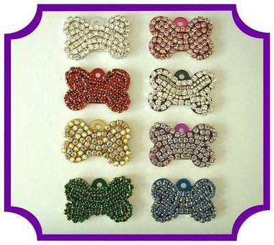 Rhinestone Bone Tags - Posh Pet Glamour Boutique