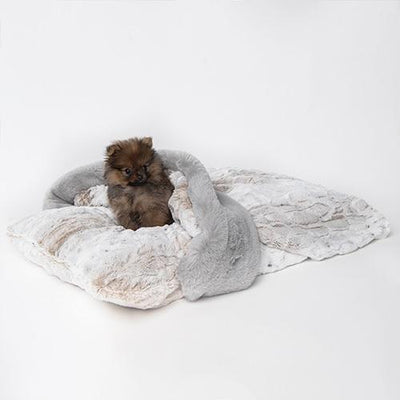 posh-pet-glamour-boutique,Ritz Hideaway: Pearl Leopard,Luxury Dog Bed.